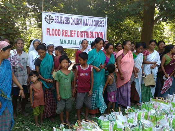 K.P. Yohannan Led Believers Church to Help 9700 Families in Flood Hit Regions of Bihar and Assam