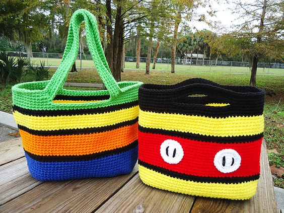 Totally Mickey Tote Crochet Pattern by enchantedhook on Etsy