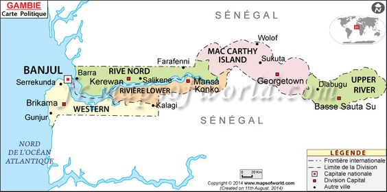 map of gambia Google Search travel Pinterest Africa Bon