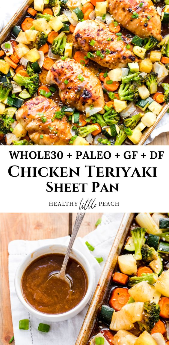 Whole30 Chicken Teriyaki Sheet Pan