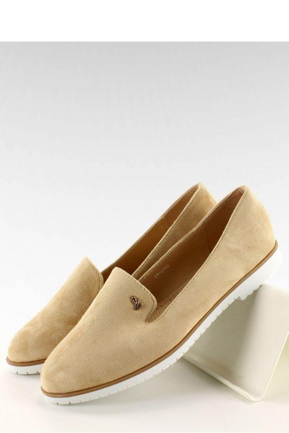 Urocze lordsy :) Propozycja na najbliższą wiosnę, na którą już z utęsknieniem czekamy :)  #butydamskie #moda #fashion #trendy #style https://www.mokado.pl/Lordsy-GF-A485-Beige-p18381