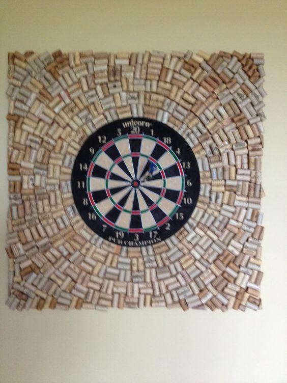 dart board darts and corks on pinterest. Black Bedroom Furniture Sets. Home Design Ideas