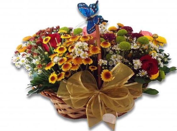 bom dia com cesta de flores - Pesquisa Google: