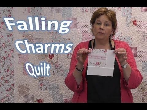 so pretty! Falling Charms Quilt Tutorial - Quilting With Charm Packs by Jenny Doan