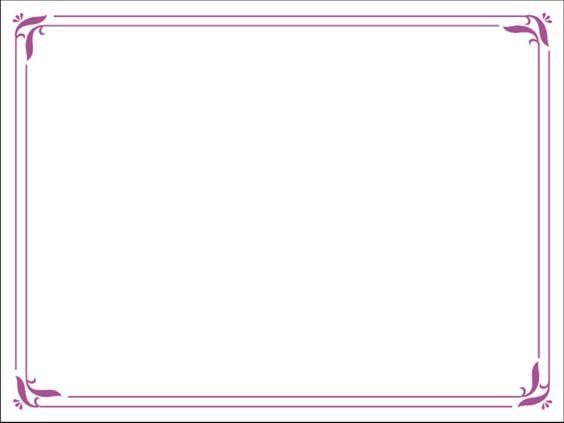 Purple Borders Free Powerpoint Template Simple Purple - certificate border template free