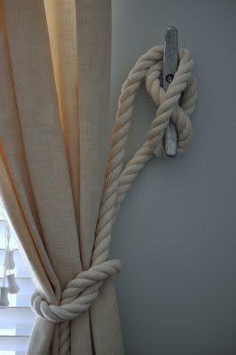 Nautical curtain tie