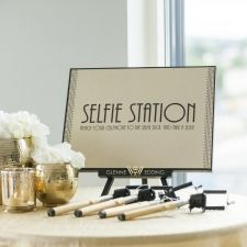 A selfie station is always a hit! Remember to make a # for the wedding.