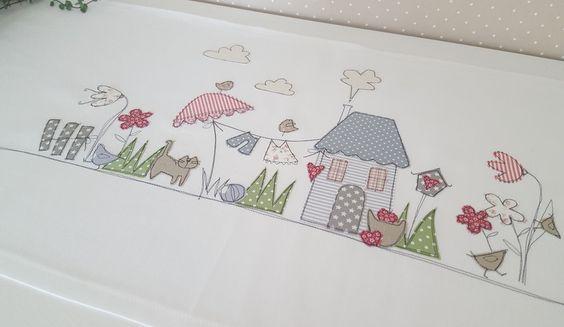 """Tischläufer - Tischläufer """"Sommergartenzauber"""" - ein Designerstück von Feinerlei bei DaWanda"""