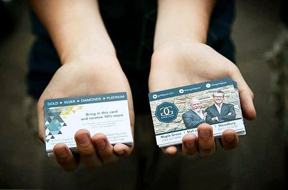 Gold Guys Business Cards | Brand Refresh by Grundy Designs | www.grundydesigns... | Facebook | Twitter #grundydesigns