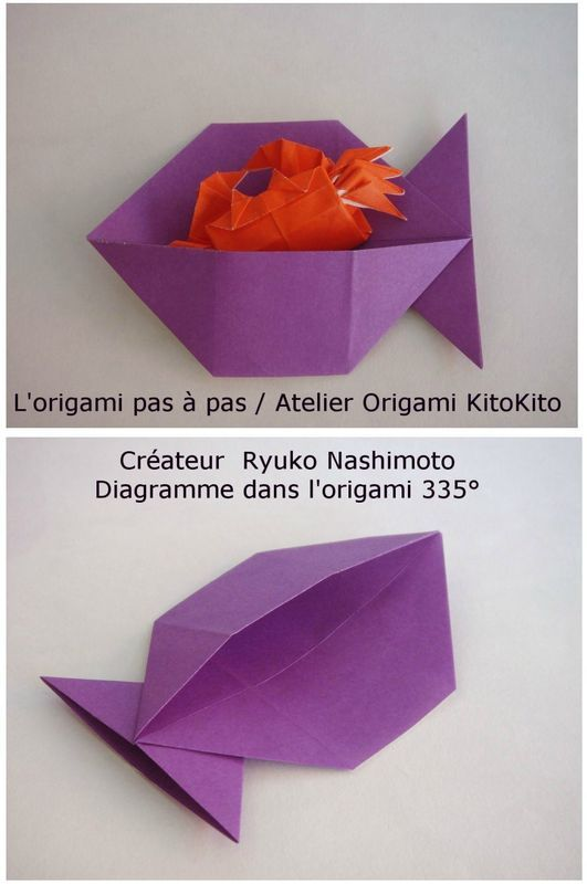 pochette de poisson ya ka plier fut pinterest poisson origami et enveloppes. Black Bedroom Furniture Sets. Home Design Ideas