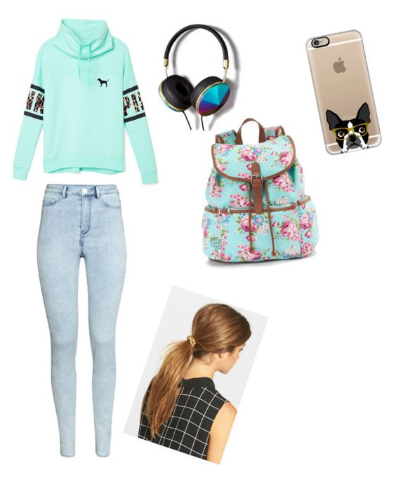 """""""Untitled #28"""" by pt-marie on Polyvore featuring Victoria's Secret PINK, H&M, Ficcare, Casetify, Abercrombie & Fitch and Candie's"""
