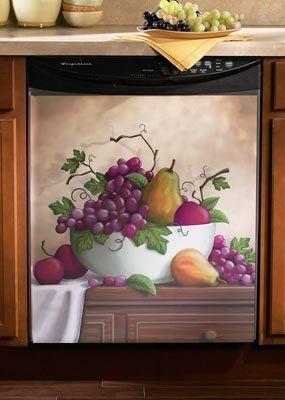 Country Fruit Bowl Grape Vineyard Dishwasher Magnetic Cover Magnet Kitchen Decor Home Garden Dining Bar Tools Gadgets Ebay