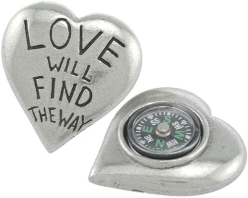 'Love Will Find A Way' Compass | Trinkets & Treasures, Pewter, Compass, Jim Clift | Catching Fireflies