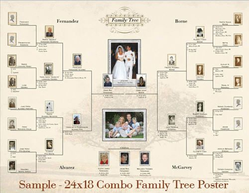 family tree with photos