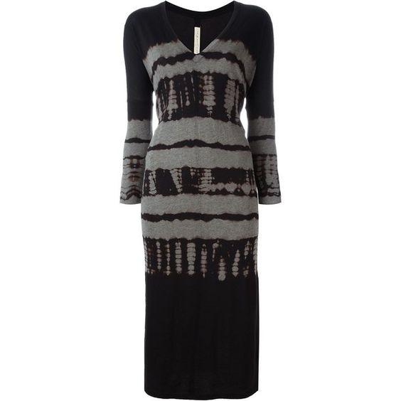 Raquel Allegra Tie-Dye Jersey Dress ($380) ❤ liked on Polyvore featuring dresses, black, raquel allegra, cotton dress, jersey dress, raquel allegra dress and tie-dye dress
