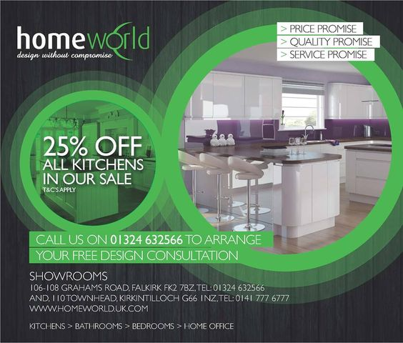 25% OFF Bespoke Kitchens 50% OFF Bespoke Kitchen Installations http://www.homeworld.uk.com/products/kitchens/