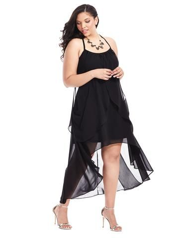 Plus Size CITY CHIC Drape Goddess Dress