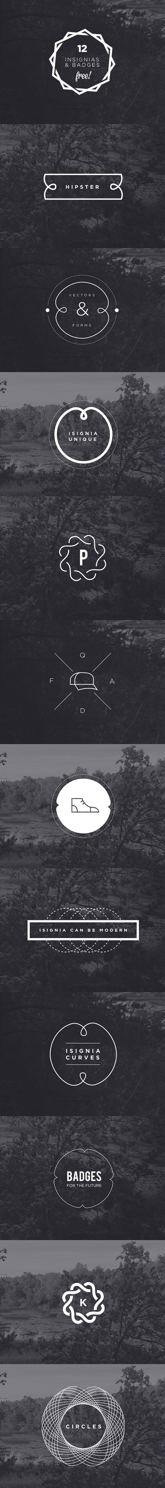 FREE HIPSTER INSIGNIAS & BADGES VECTOR & PSD on Behance
