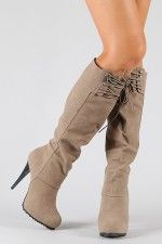 Delicious Patsy-S Button Cuff Knee High Boot $33.90