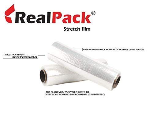 Offerta Di Oggi Realpacka 1 X Qualita A Filo Core Clear Pallet Stretch Wrap Strong Shrink Film Dimensioni 400 Stretch Wrap Shrink Film Brochure Design