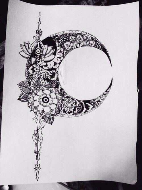 Conception de la lune tatouages de lune and design on pinterest - Tatouage de lune ...