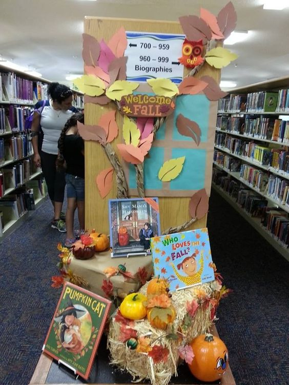 Classroom Board Decor Ideas ~ Display library displays and fall on