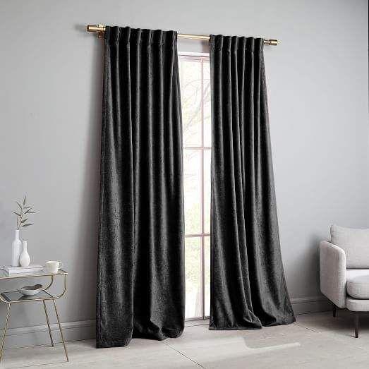 Worn Velvet Curtain Metal Velvet Curtains Curtains Living Room Home Decor