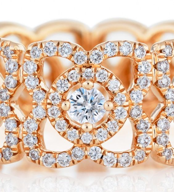 lotus in jewelry | De-Beers-Enchanted-Lotus-Band-in-Pink-Gold-2