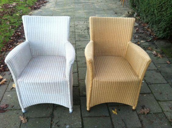 Diy rieten stoelen vergrijzen deze lioyd loom stoelen for Loom stoelen