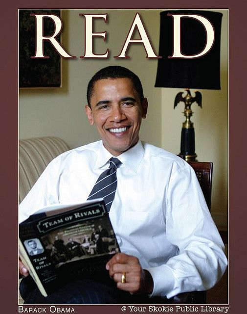 U.S. President Barack Obama by Skokie Public Library, via Flickr