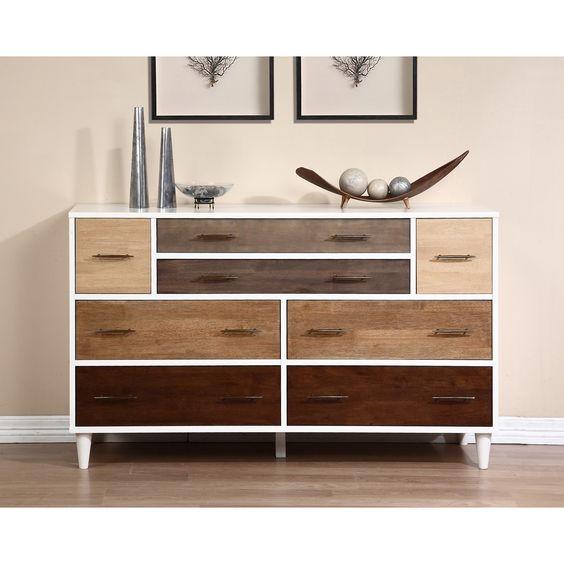 8 draer white dresser contemporary
