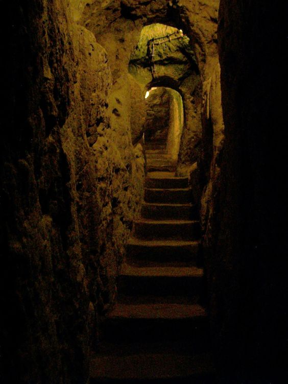 The secret passage Gemma uses to flee the castle the night