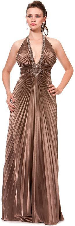 I don't know when I'd ever need such a fancy dress but I adore the pleating!