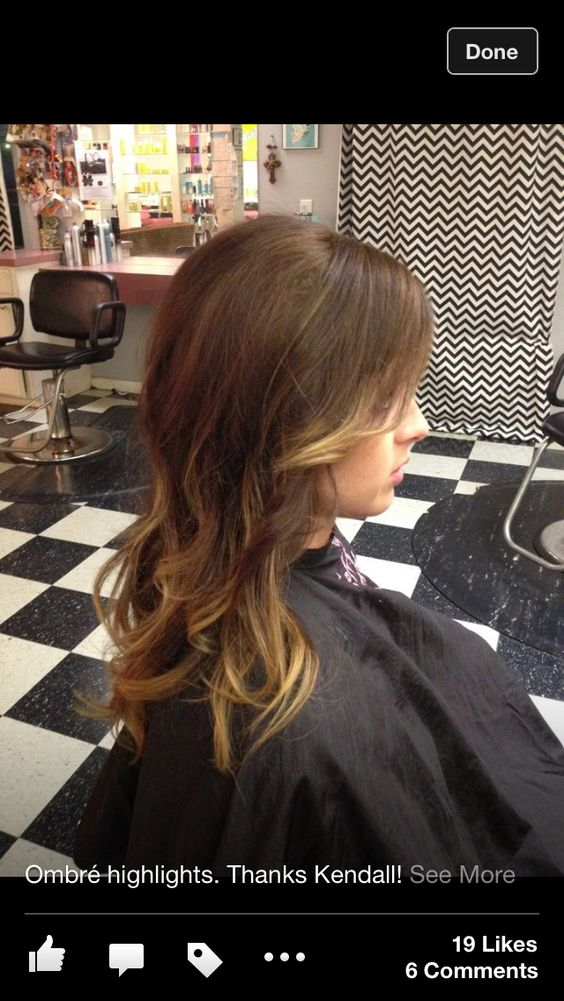 This is my personal ombré that my cosmetologist does for me.. I love it