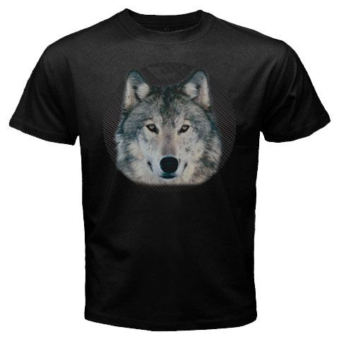Sale Custom New item winter wolf dog design for black t-shirt size S M L XL 2XL 3XL, $24.99