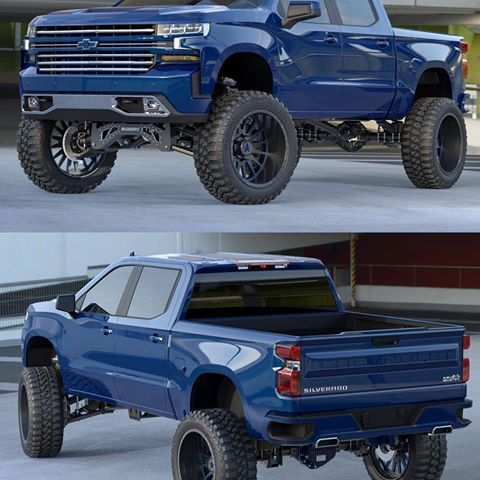 The New 7 9 Mcgaughys Lift On The 2019 Chevrolet Silverado
