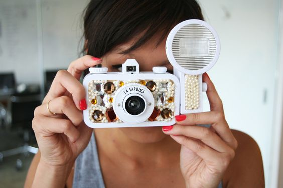 DIY jeweled camera