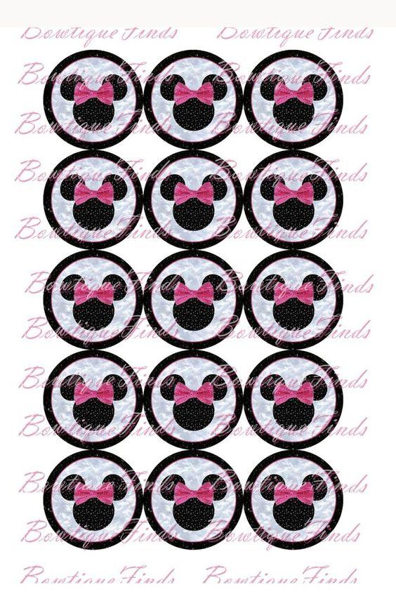 "Pink Mouse Head U PRINT.. 1"" Bottle Cap Images Sent To You... U PRINT"