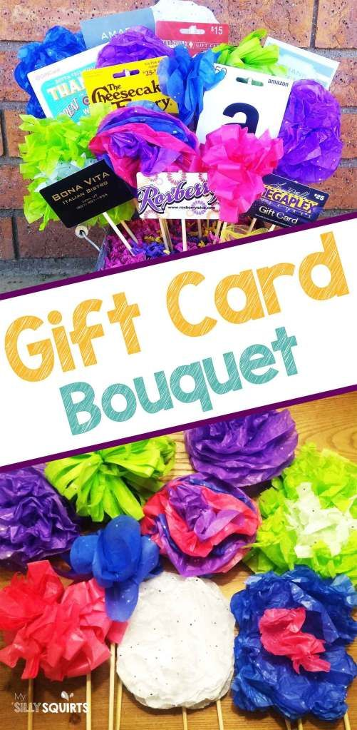 Diy Gift Card Bouquet With Tissue Paper Flowers Gift Card