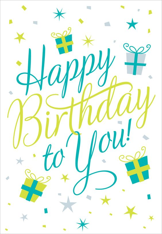 Free Printable Happy Birthday To You Greeting Card: