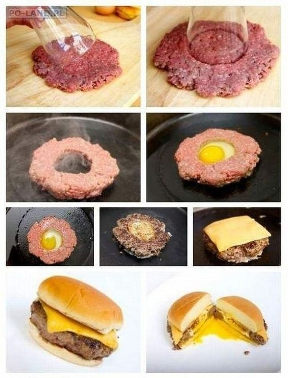 burger - I want to try a burger with an egg.  I bet it's really good.