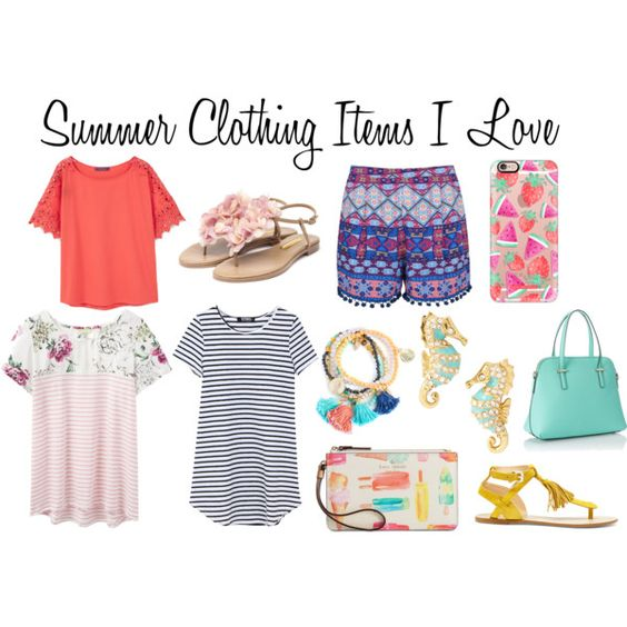 Summer Clothing Items I Love by chronicles-allie on Polyvore featuring MANGO, Joules, Ally Fashion, Rupert Sanderson, Sole Society, Kate Spade, Casetify, Summer and clothes: