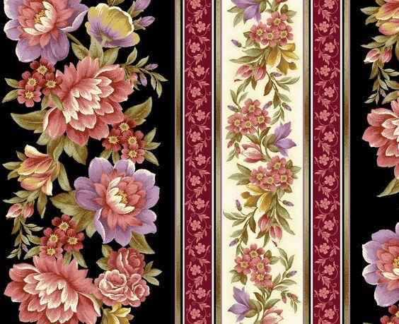 Keepsake Calico Fabric- Floral Stripe BeigeKeepsake Calico Fabric- Floral Stripe Beige,