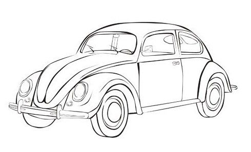 Vw Beetle Iconic Bug Car Coloring Sheet Beetle Car Cars Coloring Pages Volkswagen Beetle Vintage