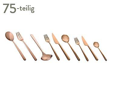 Edelstahl-Besteck-Set Linea, 75-tlg.