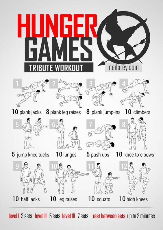 A ton of superhero/movie/videogame themed workouts.  Pick your fandom, and pick you workout!