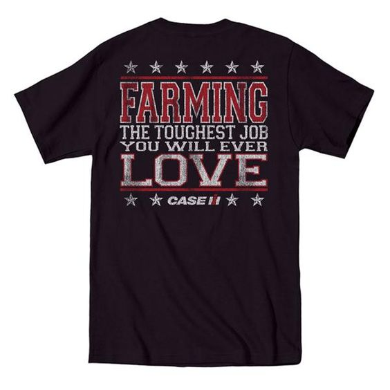 International Harvester Clothing : International harvester farming the toughest job t shirt