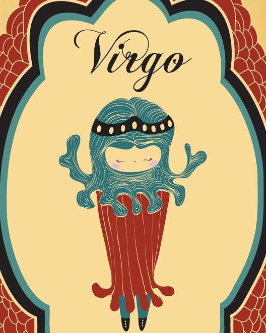 Virgo Birthday Gift Print Art of VIRGO Zodiac par ParadaCreations, $19,00