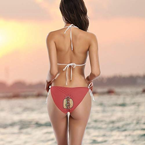 Funny Burger Music Women S Sexy Bikini Sets Detachable Print Cut