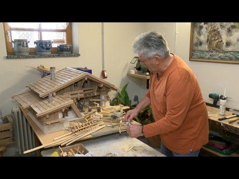 Krippenbaukunst - Herbert Peterlik baut Krippen und die Szene der Heiligen Nacht - YouTube